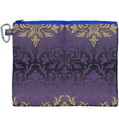 Art Nouveau,vintage,damask,gold,purple,antique,beautiful Canvas Cosmetic Bag (xxxl) by 8fugoso