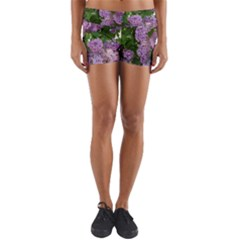 Lilacs 2 Yoga Shorts by dawnsiegler