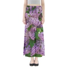 Lilacs 2 Full Length Maxi Skirt