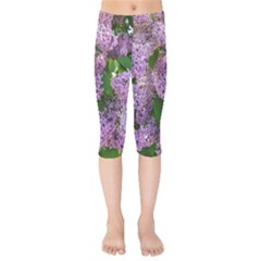 Lilacs 2 Kids  Capri Leggings  by dawnsiegler