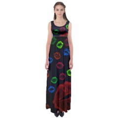 Hot Lips Empire Waist Maxi Dress