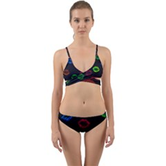 Hot Lips Wrap Around Bikini Set by dawnsiegler