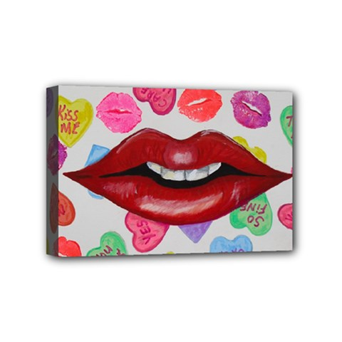 Aahhhh Candy Mini Canvas 6  X 4  by dawnsiegler