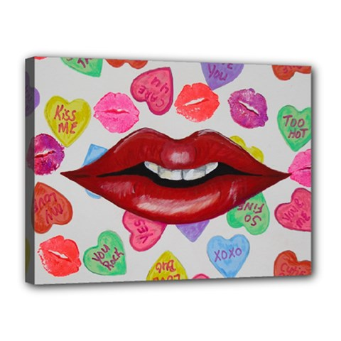 Aahhhh Candy Canvas 16  X 12  by dawnsiegler