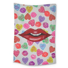 Aahhhh Candy Large Tapestry by dawnsiegler
