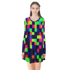 Squares Flare Dress