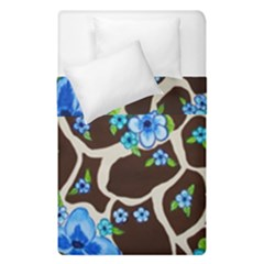 Floral Giraffe Print Duvet Cover Double Side (single Size) by dawnsiegler