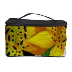 Floral Cow Print Cosmetic Storage Case by dawnsiegler