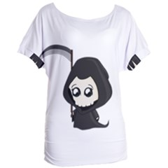 Cute Grim Reaper Women s Oversized Tee