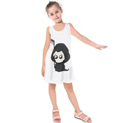 Cute Grim Reaper Kids  Sleeveless Dress