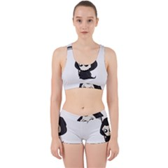 Cute Grim Reaper Work It Out Sports Bra Set