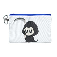 Cute Grim Reaper Canvas Cosmetic Bag (large) by Valentinaart