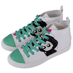 Cute Grim Reaper Women s Mid Top Canvas Sneakers by Valentinaart