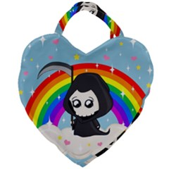 Cute Grim Reaper Giant Heart Shaped Tote by Valentinaart