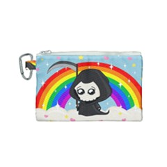 Cute Grim Reaper Canvas Cosmetic Bag (small) by Valentinaart