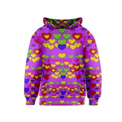 I Love This Lovely Hearty One Kids  Pullover Hoodie by pepitasart