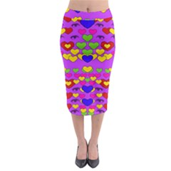 I Love This Lovely Hearty One Midi Pencil Skirt by pepitasart