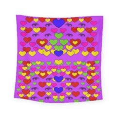 I Love This Lovely Hearty One Square Tapestry (small) by pepitasart