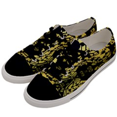 Dna Diluted Men s Low Top Canvas Sneakers by MRTACPANS
