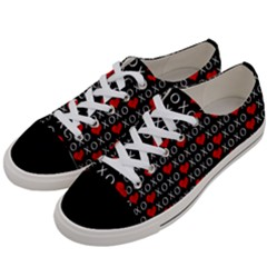 Xoxo Valentines Day Pattern Women s Low Top Canvas Sneakers by Valentinaart