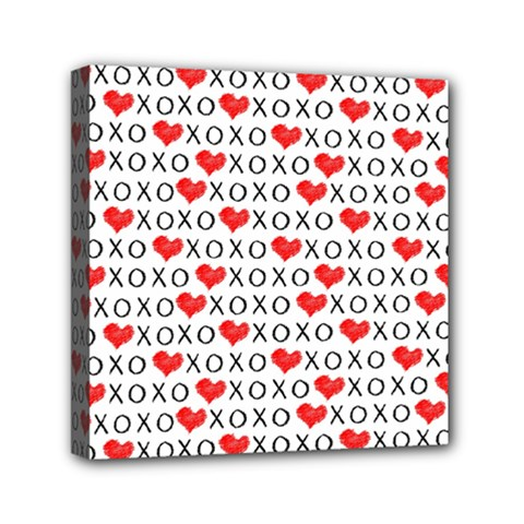 Xoxo Valentines Day Pattern Canvas Travel Bag by Valentinaart