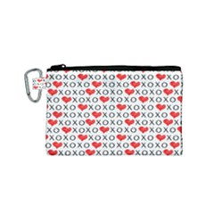 Xoxo Valentines Day Pattern Canvas Cosmetic Bag (small)