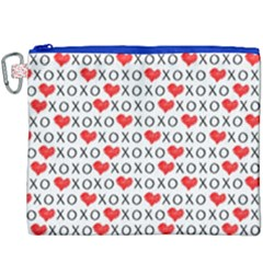 Xoxo Valentines Day Pattern Canvas Cosmetic Bag (xxxl) by Valentinaart