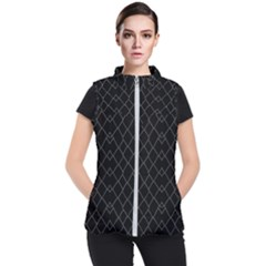 Black And White Grid Pattern Women s Puffer Vest by dflcprints