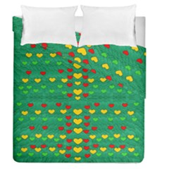 Love Is In All Of Us To Give And Show Duvet Cover Double Side (queen Size) by pepitasart