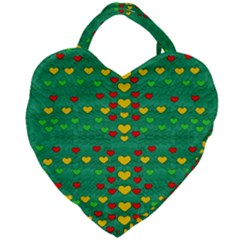 Love Is In All Of Us To Give And Show Giant Heart Shaped Tote by pepitasart