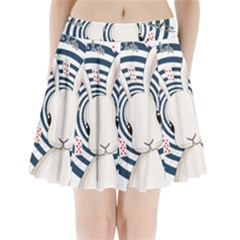 White Rabbit In Wonderland Pleated Mini Skirt