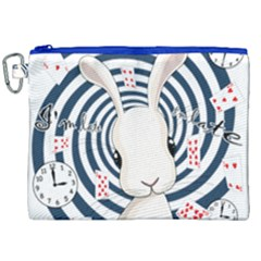 White Rabbit In Wonderland Canvas Cosmetic Bag (xxl) by Valentinaart