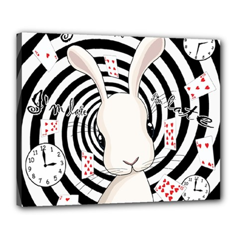 White Rabbit In Wonderland Canvas 20  X 16  by Valentinaart