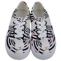 White Rabbit In Wonderland Kids  Classic Low Top Sneakers