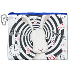 White Rabbit In Wonderland Canvas Cosmetic Bag (xxl)