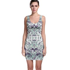 Modern Collage Pattern Mosaic Bodycon Dress by dflcprints