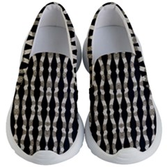 Wavy Stripes Pattern Kid s Lightweight Slip Ons by dflcprints
