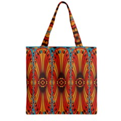 Geometric Extravaganza Pattern Grocery Tote Bag by linceazul