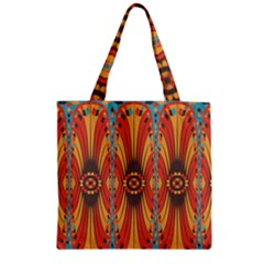 Geometric Extravaganza Pattern Zipper Grocery Tote Bag by linceazul