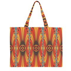 Geometric Extravaganza Pattern Zipper Large Tote Bag by linceazul