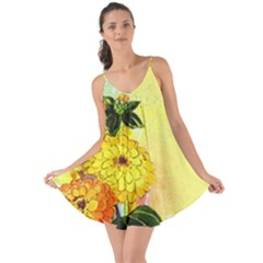 Background Flowers Yellow Bright Love The Sun Cover Up