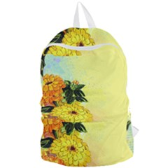 Background Flowers Yellow Bright Foldable Lightweight Backpack