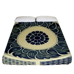 Background Vintage Japanese Fitted Sheet (california King Size) by Nexatart