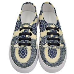 Background Vintage Japanese Women s Classic Low Top Sneakers