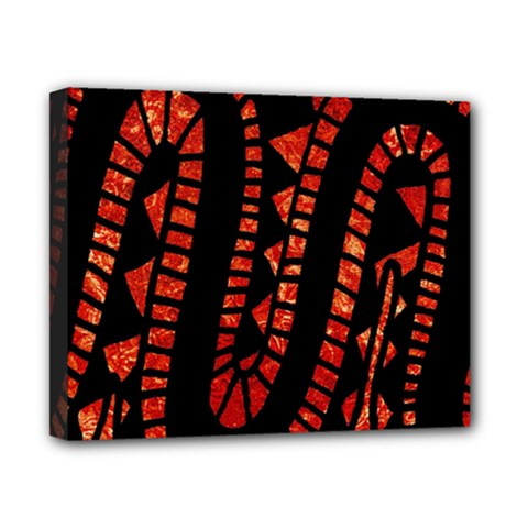 Background Abstract Red Black Canvas 10  X 8