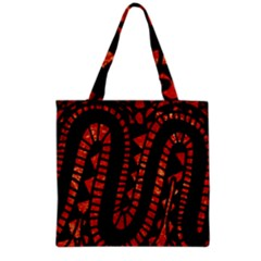 Background Abstract Red Black Grocery Tote Bag