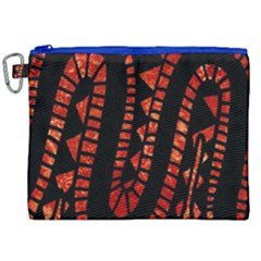 Background Abstract Red Black Canvas Cosmetic Bag (xxl) by Nexatart