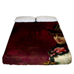 Vintage Edwardian Scrapbook Fitted Sheet (queen Size)