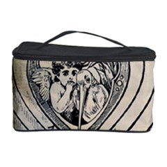 Heart Drawing Angel Vintage Cosmetic Storage Case