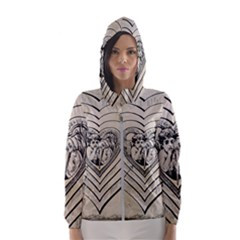 Heart Drawing Angel Vintage Hooded Wind Breaker (women)